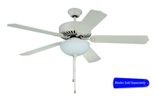 "Craftmade E201AW - Pro Builder 201 52"" Ceiling Fan with Light in Antique White (Blades Sold Separately)"