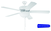 "Craftmade C201W - Pro Builder 201 52"" Ceiling Fan with Light in White (Blades Sold Separately)"