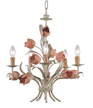 Crystorama 4805-SR - Crystorama Southport 5 Light Sage Rose Chandelier