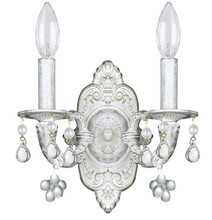 Crystorama 5200-AW-CLEAR - Crystorama Paris Market 2 Light Clear Crystal White Sconce II