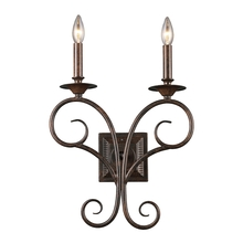 ELK Lighting 15040/2 - Gloucester 2 Light Wall Sconce In Weathered Bron