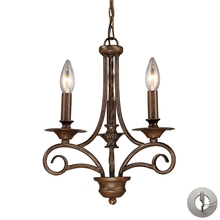 ELK Lighting 15041/3-LA - Gloucester 3 Light Chandelier In Weathered Bronz