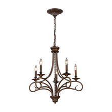 ELK Lighting 15042/5 - Gloucester 5 Light Chandelier In Weathered Bronz