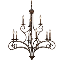 ELK Lighting 15043/6+3 - Gloucester 9 Light Chandelier In Weathered Bronz