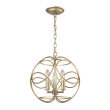 ELK Lighting 31801/3 - Chandette 3 Light Pendant In Aged Silver