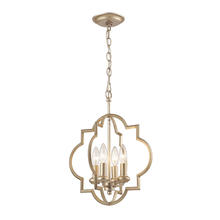 ELK Lighting 31802/4 - Chandette 4 Light Pendant In Aged Silver