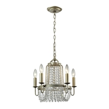 ELK Lighting 31805/5 - Chandette 5 Light Chandelier In Aged Silver