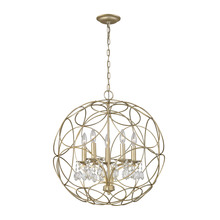 ELK Lighting 31806/5 - Chandette 5 Light Chandelier In Aged Silver