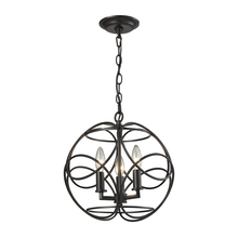 ELK Lighting 31811/3 - Chandette 3 Light Pendant In Oil Rubbed Bronze