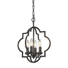 ELK Lighting 31812/4 - Chandette 4 Light Pendant In Oil Rubbed Bronze