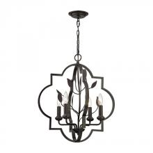 ELK Lighting 31816/4 - Chandette 4 Light Chandelier In Oil Rubbed Bronz