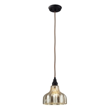 ELK Lighting 46008/1 - Danica 1 Light Pendant In Oiled Bronze And Mercu