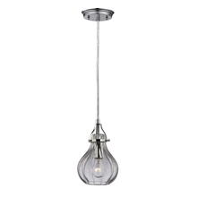 ELK Lighting 46014/1 - Danica 1 Light Pendant In Polished Chrome And Cl