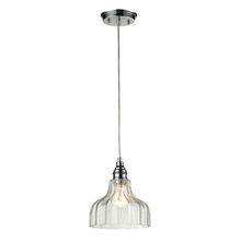 ELK Lighting 46018/1 - Danica 1 Light Pendant In Polished Chrome And Cl