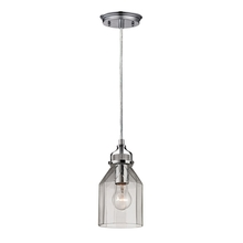 ELK Lighting 46019/1 - Danica 1 Light Pendant In Polished Chrome And Cl
