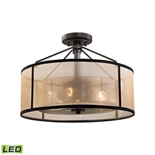 ELK Lighting 57024/3-LED - Diffusion 3 Light LED Semi Flush In Oil Rubbed B