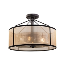 ELK Lighting 57024/3 - Diffusion 3 Light Semi Flush In Oil Rubbed Bronz