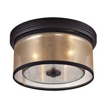 ELK Lighting 57025/2 - Diffusion 2 Light Flushmount In Oil Rubbed Bronz