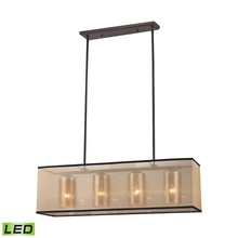 ELK Lighting 57028/4-LED - Diffusion 4 Light LED Chandelier In Oil Rubbed B