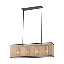 ELK Lighting 57028/4 - Diffusion 4 Light Chandelier In Oil Rubbed Bronz