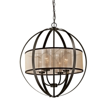 ELK Lighting 57029/4 - Diffusion 4 Light Chandelier In Oil Rubbed Bronz