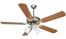 "Craftmade K10405 - Pro Builder 205 52"" Ceiling Fan Kit with Light Kit in Brushed Satin Nickel"
