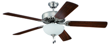 "Craftmade K11102 - Pro Builder 201 52"" Ceiling Fan Kit with Light Kit in Brushed Polished Nickel"