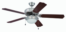 "Craftmade K11207 - Pro Builder 209 52"" Ceiling Fan Kit with Light Kit in Brushed Polished Nickel"