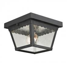 Elk Cornerstone 9102EF/65 - Springfield 2 Light Exterior Flush Mount In Matt