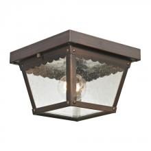 Elk Cornerstone 9102EF/70 - Springfield 2 Light Exterior Flush Mount In Haze