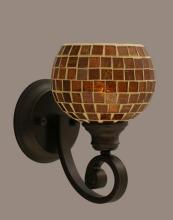 Toltec Company 151-BRZ-402 - One Light Bronze Mosaic Glass Wall Light