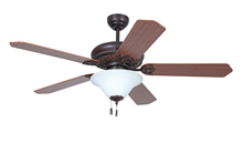"Ellington Fan MAN52OBG5C1 - Manor with Bowl Light Kit 54"" Ceiling Fan with Blades and Light in Oiled Bronze Gilded"