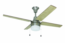 "Ellington Fan UBW48BC4C1 - Wakefield 48"" Ceiling Fan with Blades and Light in Brushed Chrome"