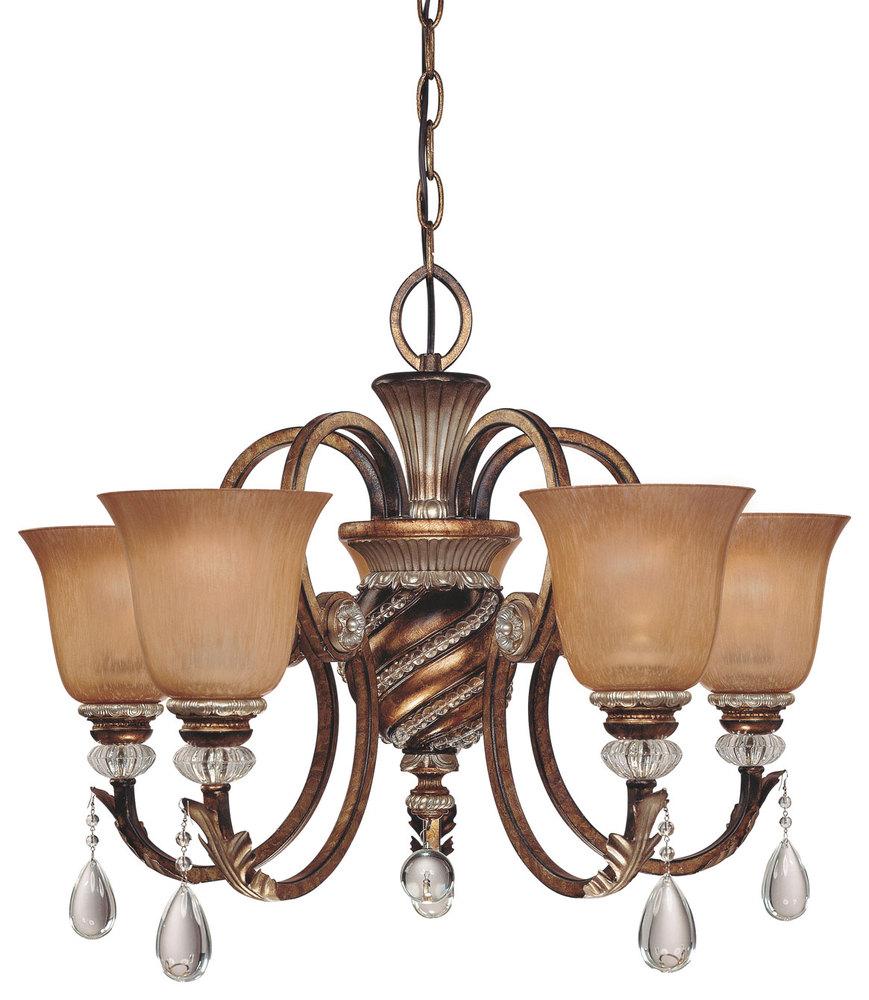 5 Light Chandelier 174 206 43rd Street Lighting Inc
