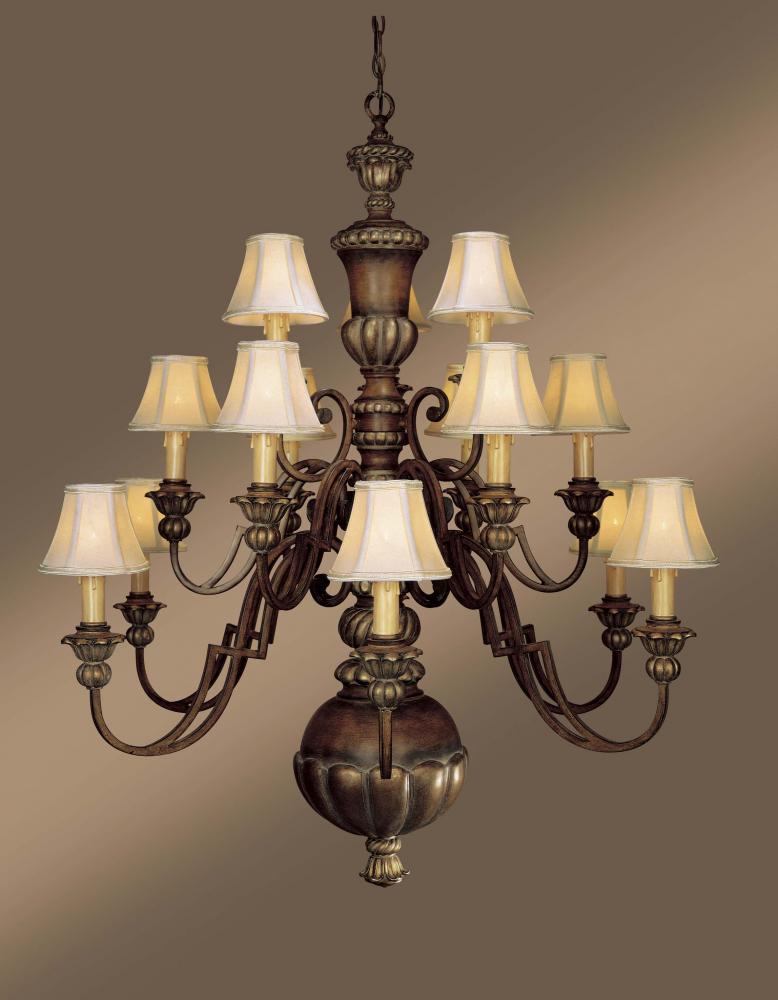 Superb Fifteen Light Wood Up Chandelier Home Design Ideas