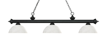 Z-Lite 200-3MB-DWL14 - 3 Light Billiard Light