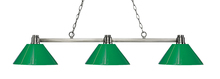 Z-Lite 314BN-PGR - 3 Light Island/Billiard Light