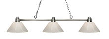 Z-Lite 314BN-PWH - 3 Light Island/Billiard Light