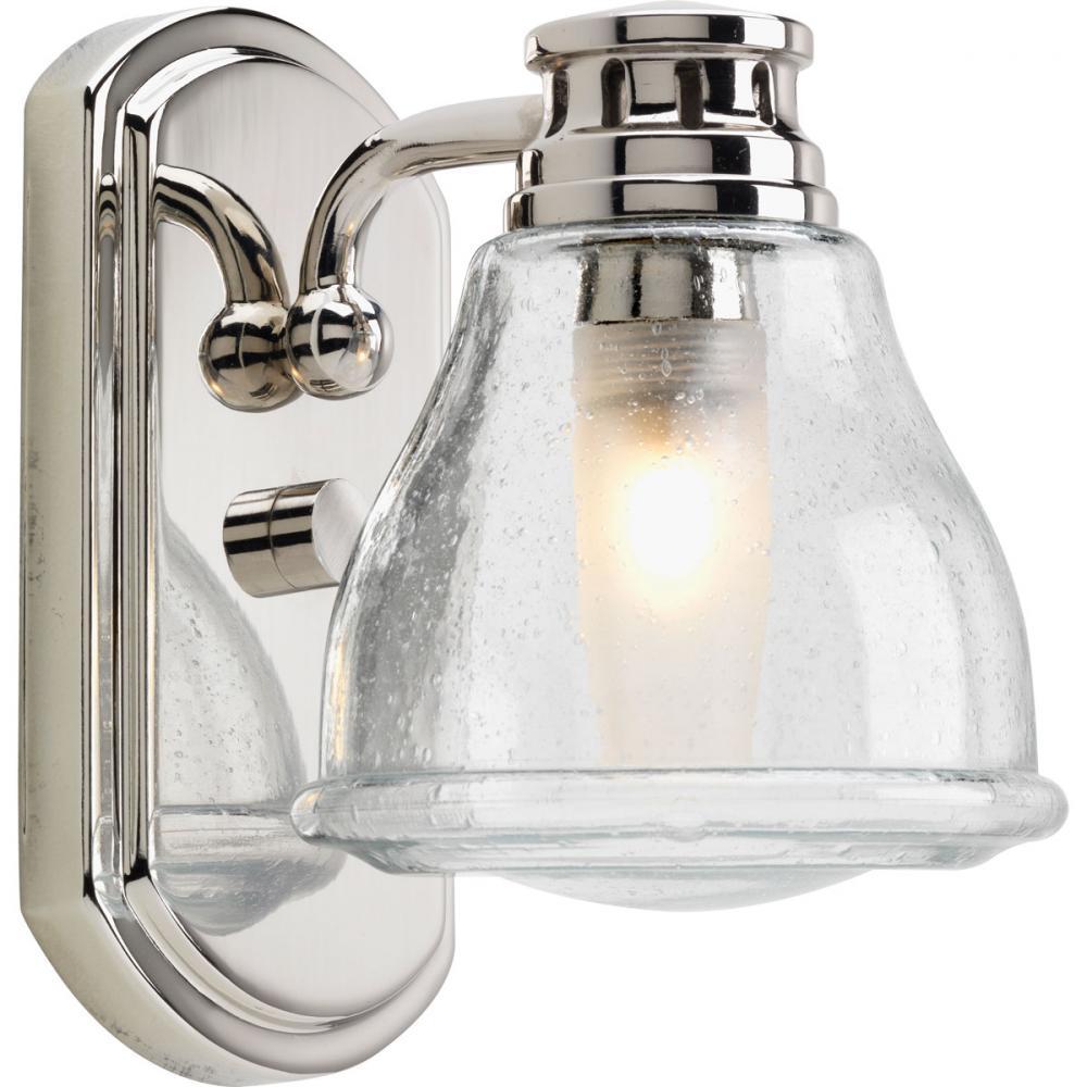 1 lt polished chrome bath light - Chrome Bathroom Sconces