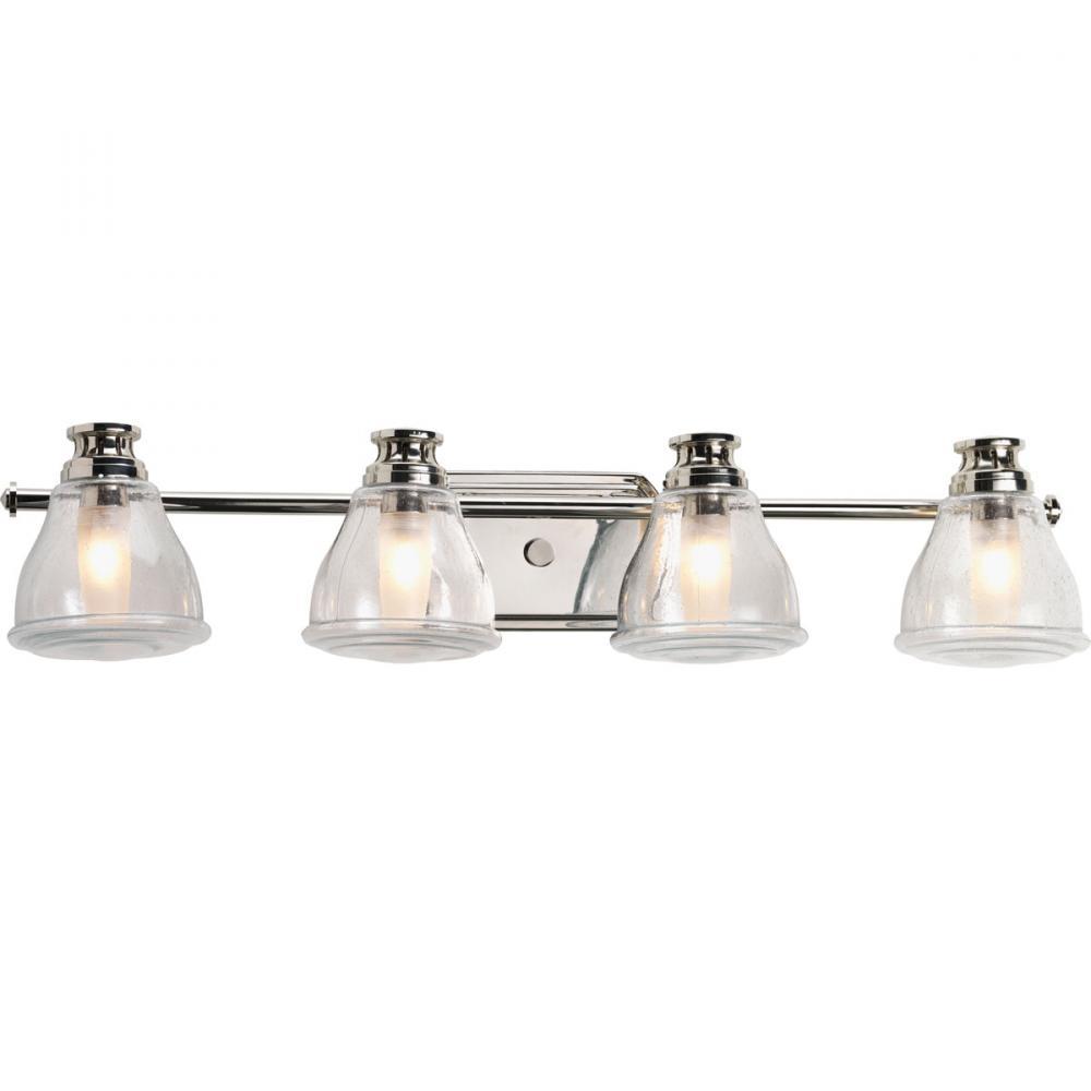 4-Lt. Polished Chrome Bath Light with Bulb : P2813-15WB | 43rd ...