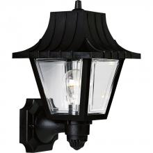 Progress P5814-31 - One Light Black  Clear Beveled Acrylic Glass Wall Lantern