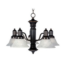 Maxim 20325MROI - Newburg-Down Light Chandelier