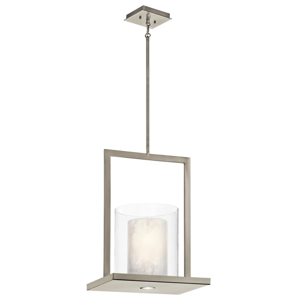 Two Light Clic Pewter Candle Pendant