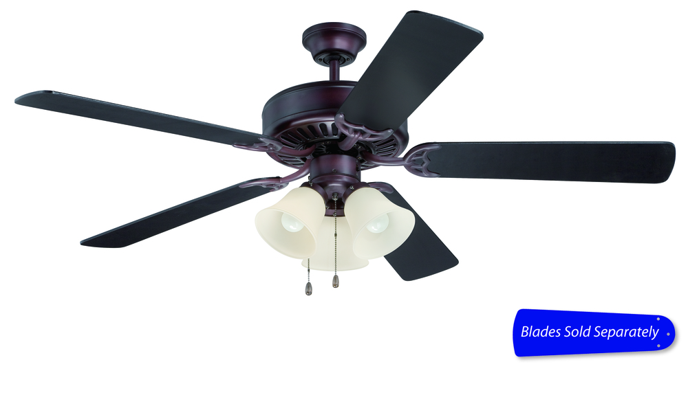"43rd Street Lighting, Inc. in Maple Grove, Minnesota, United States, Craftmade E206OB, Pro Builder 206 52"" Ceiling Fan with Light in Oiled Bronze (Blades Sold Separately), Pro Builder 206"