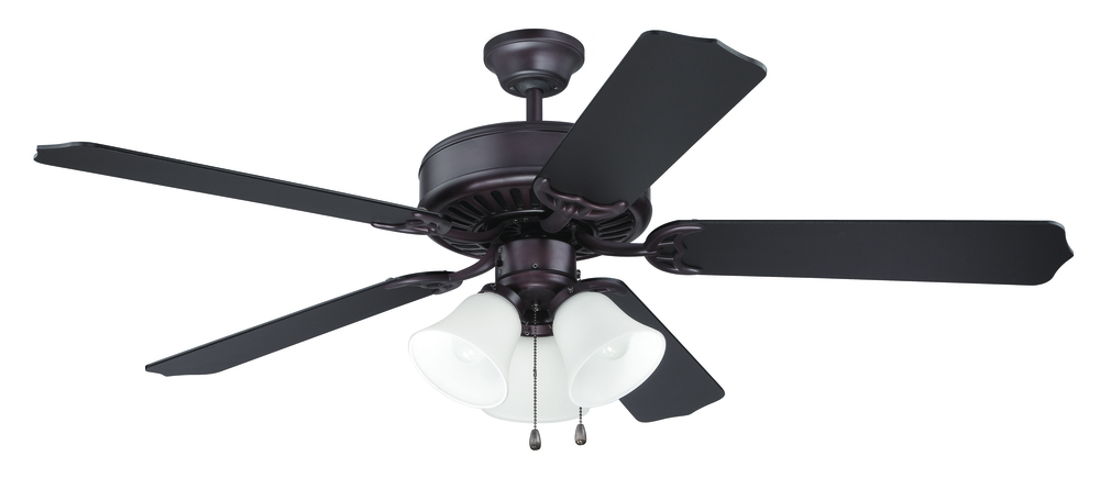 "Pro Builder 205 52"" Ceiling Fan Kit with Light Kit in Oiled Bronze"