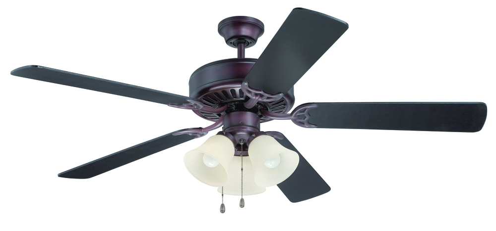 "Pro Builder 206 52"" Ceiling Fan Kit with Light Kit in Oiled Bronze"
