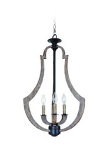 Craftmade 35133-WP - Winton 3 Light Foyer in Weathered Pine/Bronze