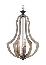 Craftmade 35139-WP - Winton 9 Light Foyer in Weathered Pine/Bronze