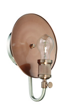 Craftmade 42361-PLNSRG - Eclipse 1 Light Wall Sconce in Polished Nickel/Satin Rose Gold