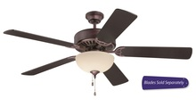 "Craftmade E202OB - Pro Builder 202 52"" Ceiling Fan with Light in Oiled Bronze (Blades Sold Separately)"